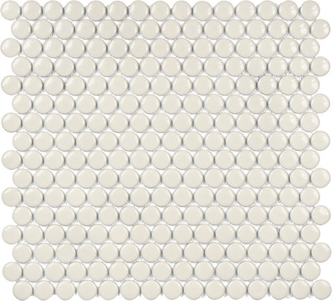 Glazed Porcelain Penny Round Mosaic Tiles - 3/4 Inch Sand - 10 Square Feet - Rocky Point Tile - Glass and Mosaic Tile Store