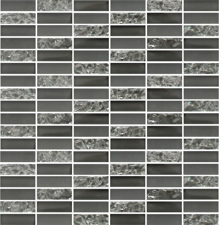 Sparkle Smoke Glass Mosaic Subway Tiles – Rocky Point Tile