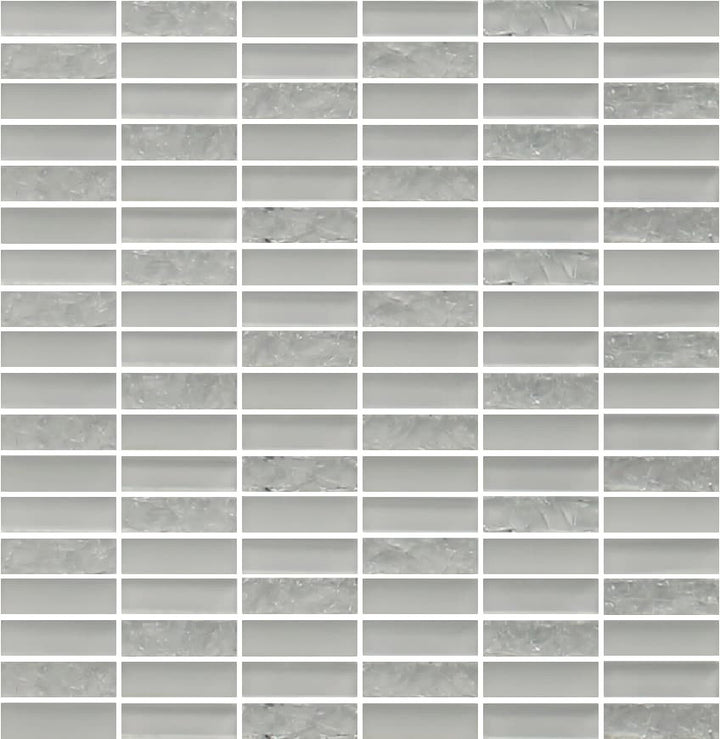 Sparkle White Glass Mosaic Subway Tiles - Rocky Point Tile - Glass and Mosaic Tile Store
