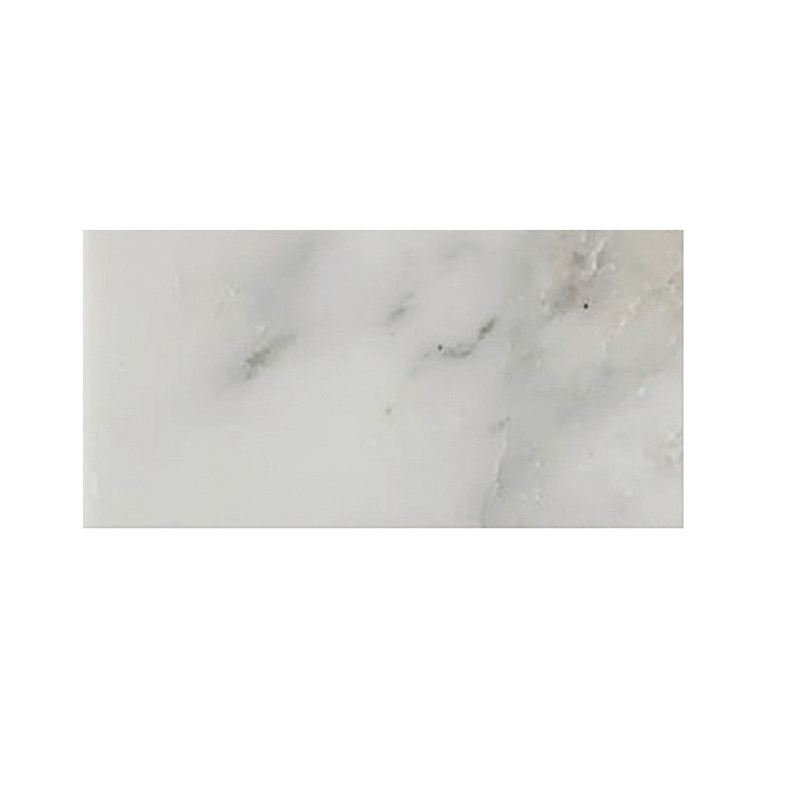"Studio Marble Polished 3"" x 6"" Subway Tiles - Bianco Macchiato"