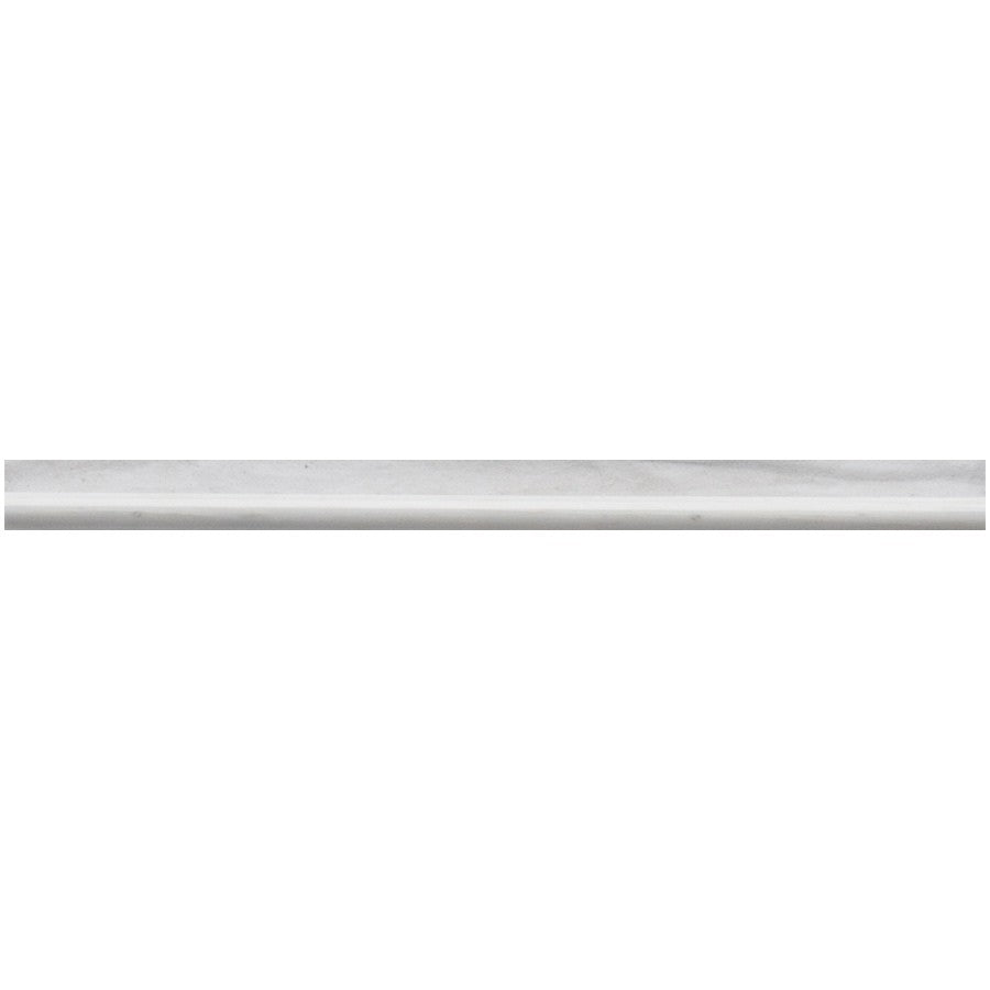 Studio Marble Polished Pencil Trim - Bianco Macchiato