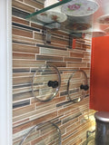 Sunset Beach Hand Painted Linear Glass Mosaic Tiles