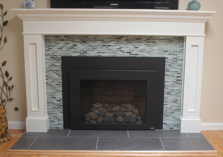 Surfz Up Hand Painted Glass Mosaic Subway Tiles Rocky