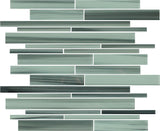 Surfz Up Hand Painted Linear Glass Mosaic Tiles