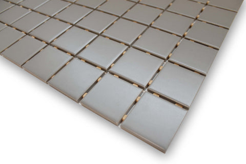 Taupe Glazed Porcelain 2 x 2 Mosaic Tiles - 10 Square Feet - Rocky Point Tile - Glass and Mosaic Tile Store