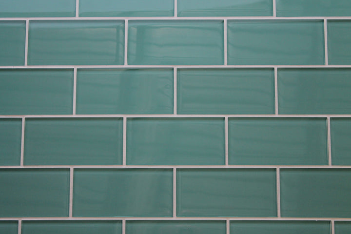 Teal Green 3x6 Glass Subway Tiles Rocky Point Tile
