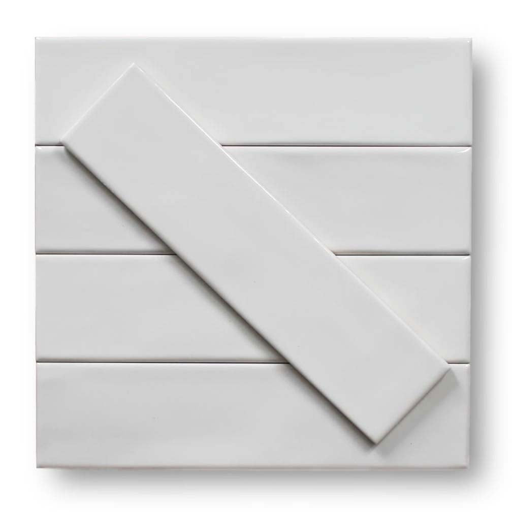 "Tencer Gradient 3"" x 12"" Glazed Ceramic Subway Tiles - Glossy White"