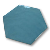 "Konzept Glazed Porcelain 7"" x 8"" Hexagon Tiles - Terra Indaco Glossy"