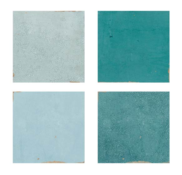 Mestizaje Zellige 5 x 5 Ceramic Tiles Samples Combo Pack - Blues