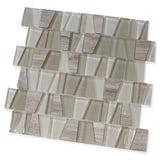 Trap Cotton Field Glass and Stone Mosaic Tiles