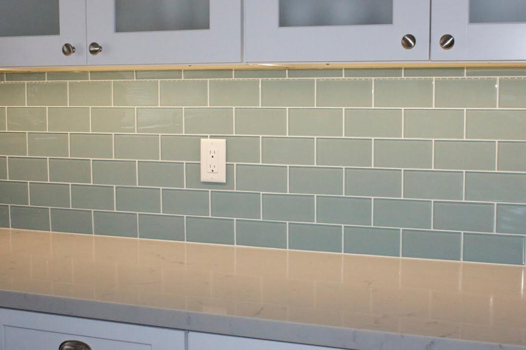 Jasper Blue Gray 3x6 Glass Subway Tiles
