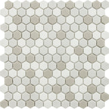 Vetro D'Terra Glass Calacatta Hexagon Mosaics - Rocky Point Tile - Glass and Mosaic Tile Store