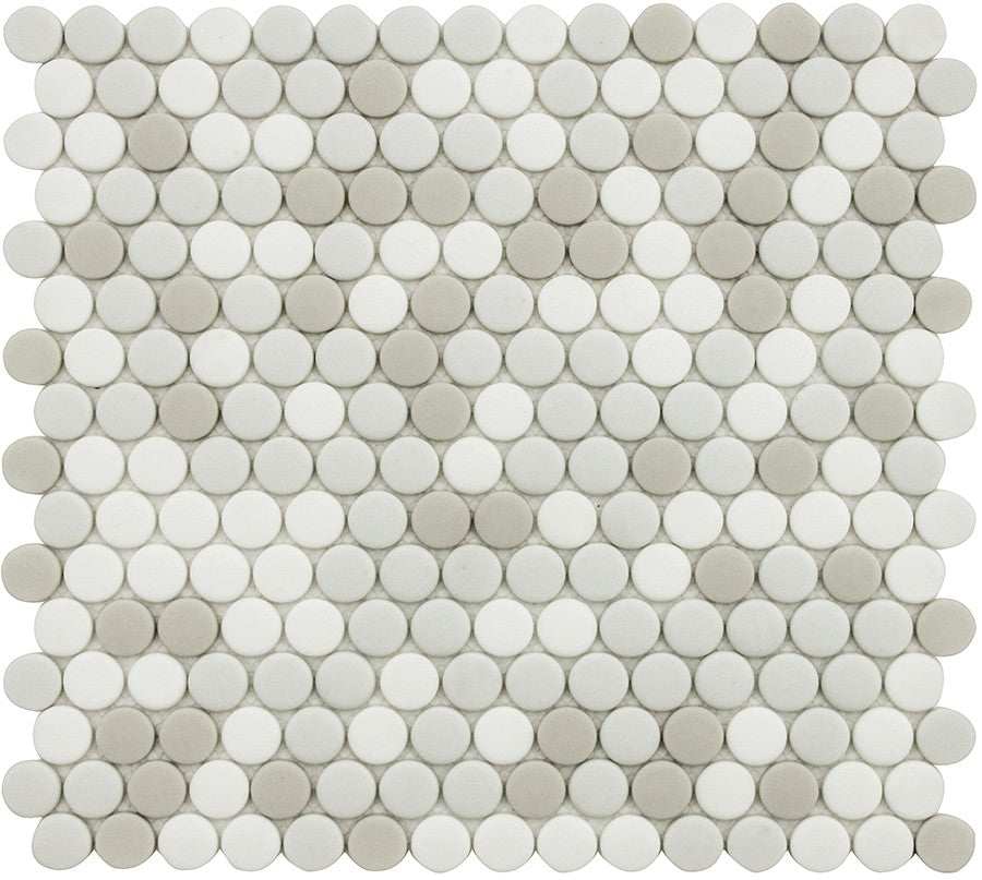 Vetro D'Terra Carrara Penny Round Glass Mosaic Tiles - Rocky Point Tile - Glass and Mosaic Tile Store