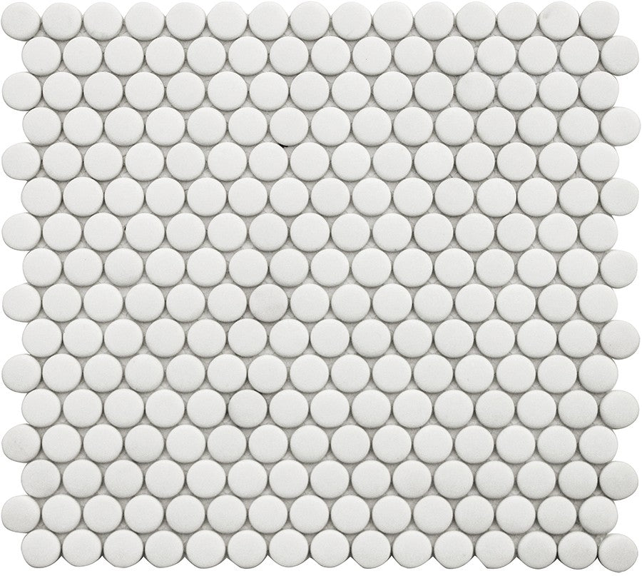 Vetro D'Terra Dolomite Penny Round Glass Mosaic Tiles - Rocky Point Tile - Glass and Mosaic Tile Store
