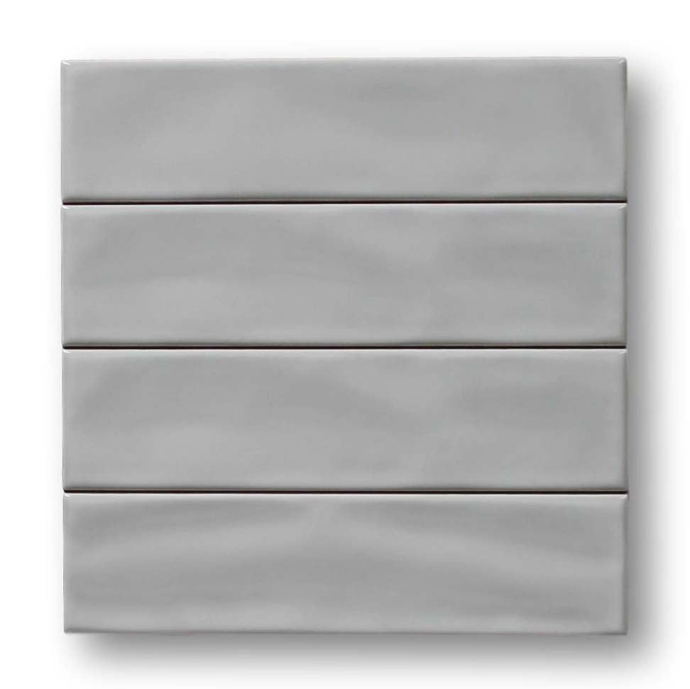 "Villa 3"" x 12"" Ceramic Subway Tiles - Gray"