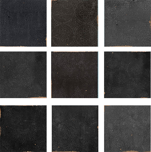 Mestizaje Zellige 5 x 5 Ceramic Tiles Samples Combo Pack - Grays