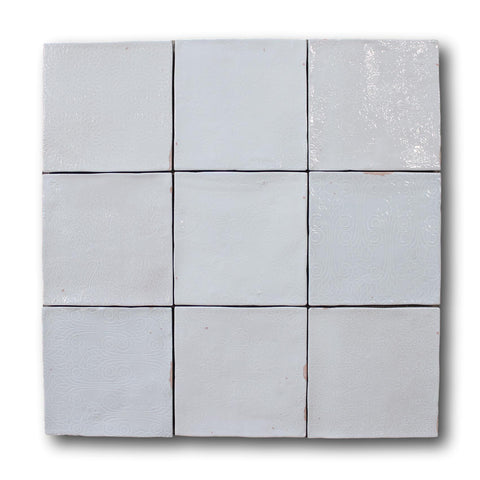 Mestizaje Zellige 5 x 5 Ceramic Tiles - White Decor