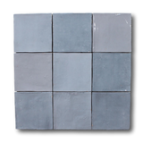 Mestizaje Zellige 5 x 5 Ceramic Tiles - Gray