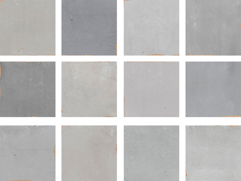 Mestizaje Zellige 5 x 5 Ceramic Tiles Combo Pack - Grays