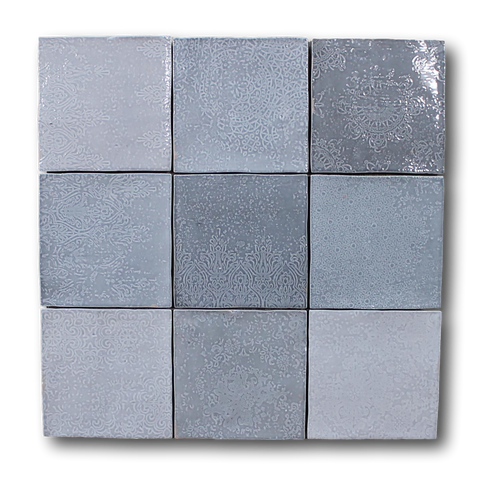 Mestizaje Zellige 5 x 5 Ceramic Tiles - Gray Decor