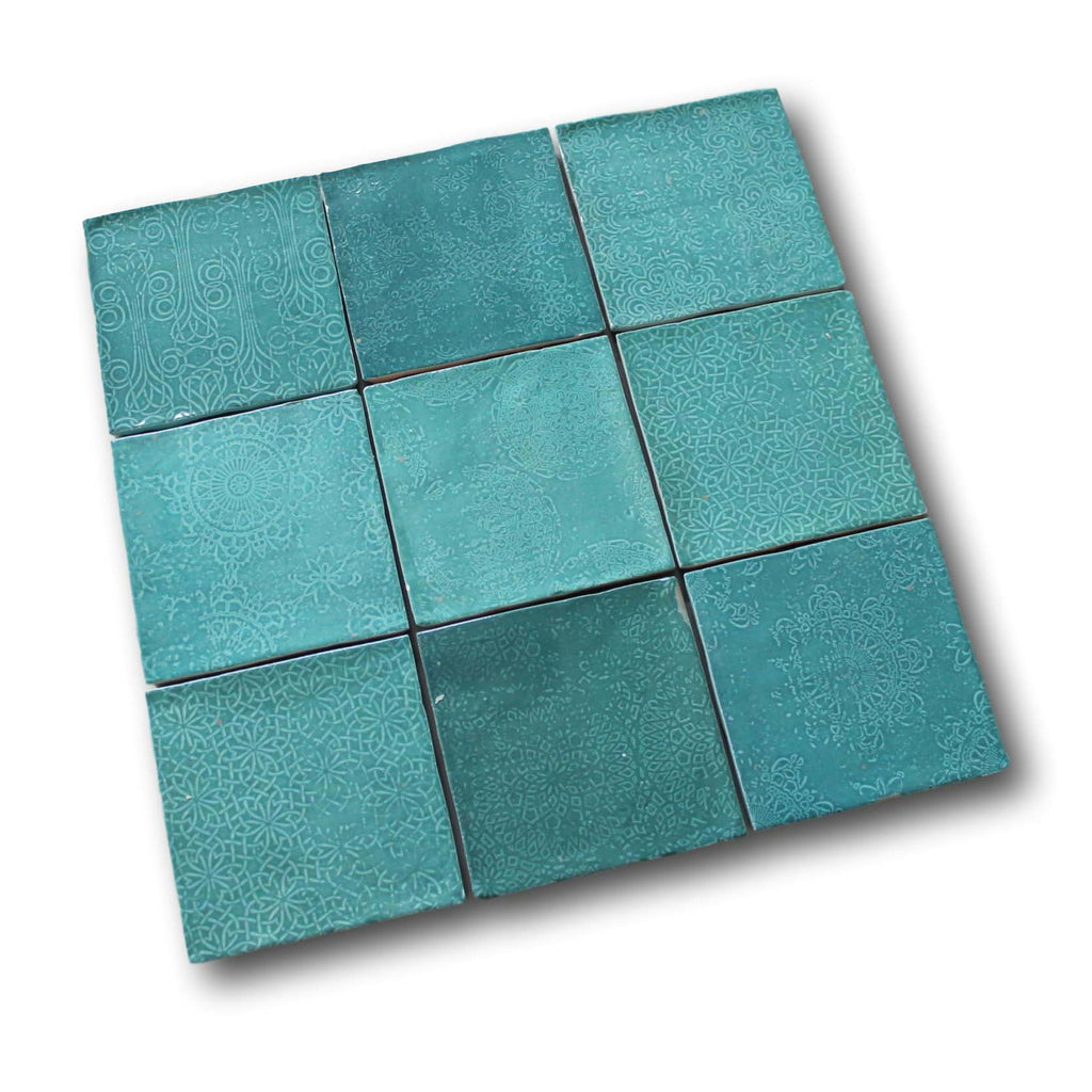 Mestizaje Zellige 5 x 5 Ceramic Tiles - Turques Decor