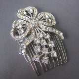 Lucille - Silver Ribbons Vintage Hair Comb