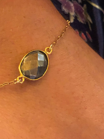 Maid of Honor Bridal Bracelet.  Faceted pyrite Charleston, SC Shop local