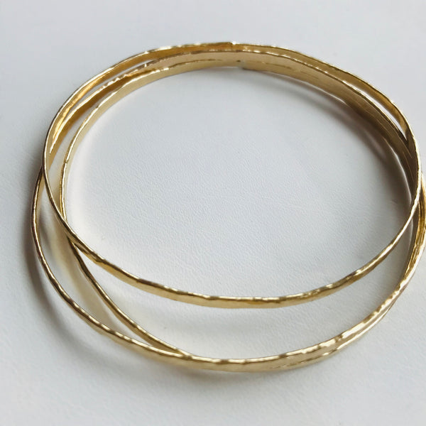 Hammered Bangles-Trio