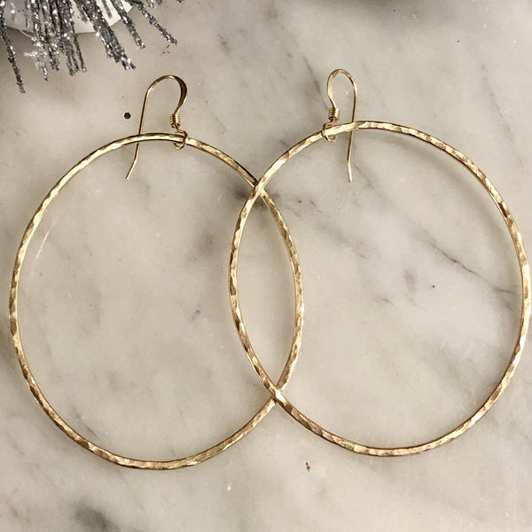 Gabriel Hammered 14KT gold fill earrings