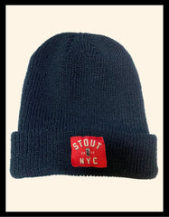 Black Beanie w/ Red Stout Tag