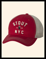 Red Stout Trucker Hat
