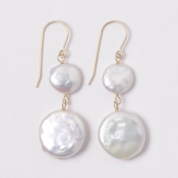 Freshwater Pearl & Goldfill Earrings
