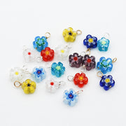 Hoops & Color Millefiori Flower Drops