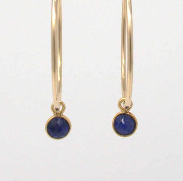 Dyed Sapphire Hoop Drops