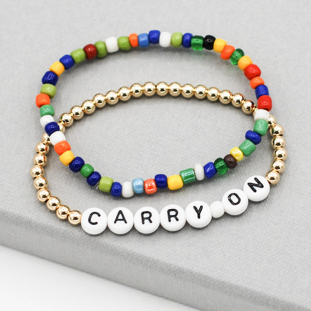 Multicolor African Trade Seed Bead Bracelet