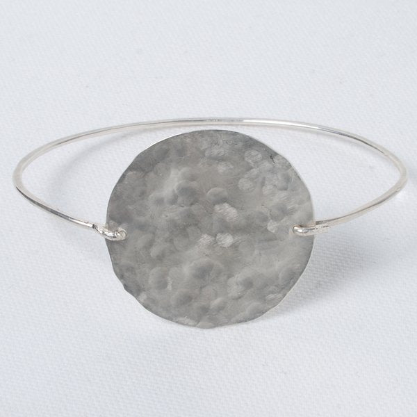 Hand Shaped Sterling Silver Bangle