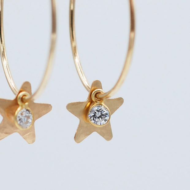 Hoops & Cubic Zirconia Star Drops