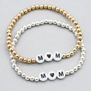 Personalized Mom Beaded Lux Bracelet
