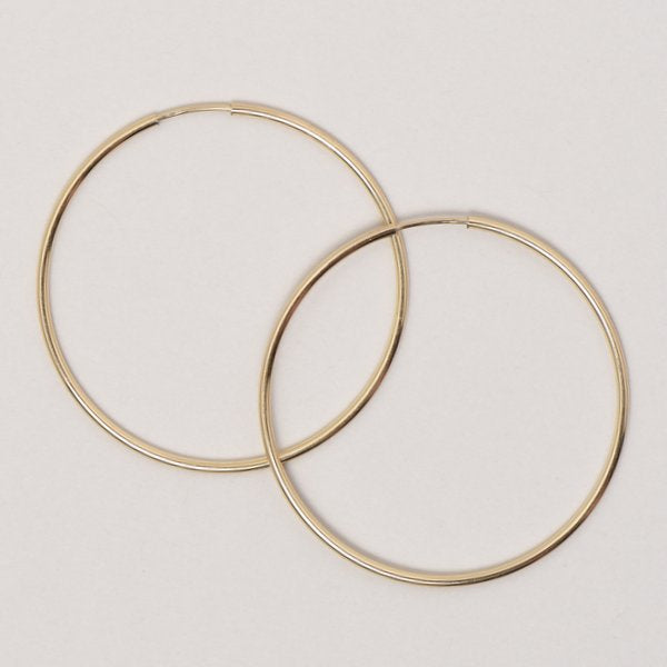 Extra Large Goldfill Endless Hoop Earrings