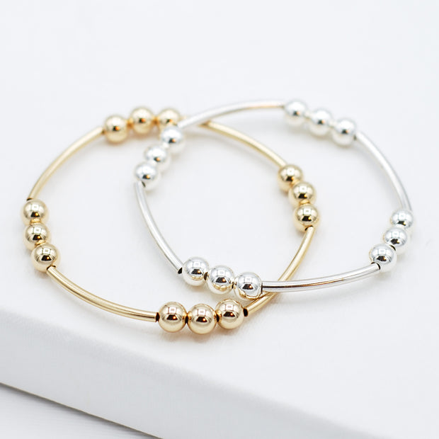 6mm Beaded Lux Tube Bracelet