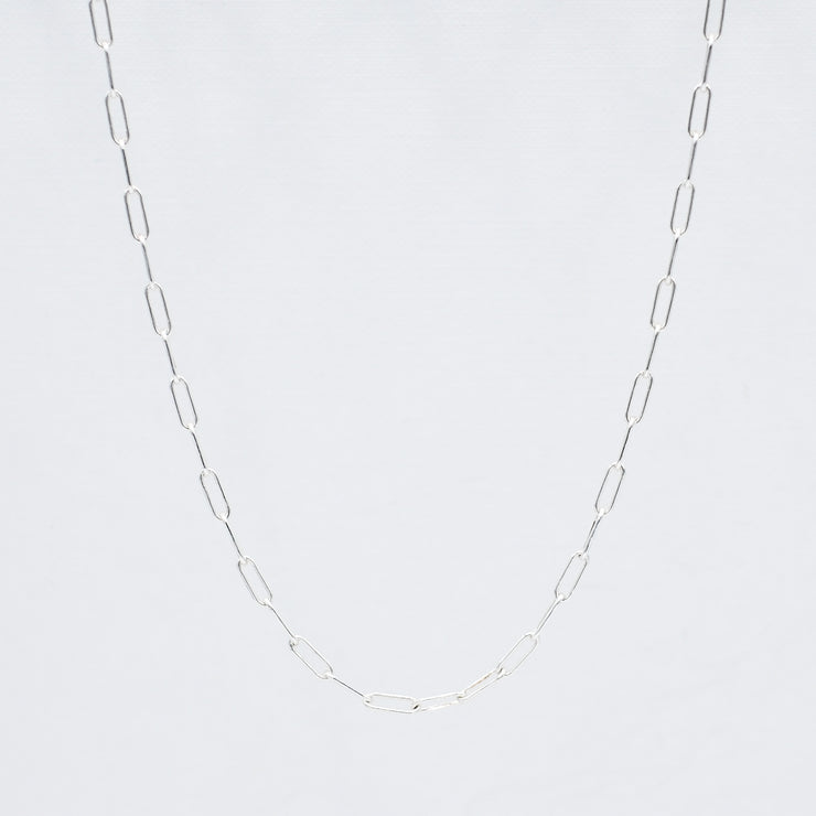 Sterling Silver Medium Paper Clip Layering Chain
