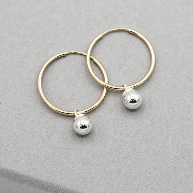 Hoops & Sterling Silver Drops