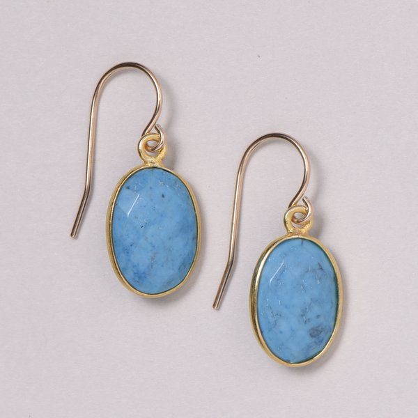 Turquoise & Vermeil Earrings