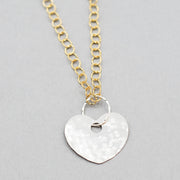 Sterling Silver Heart & 14K Goldfill Necklace