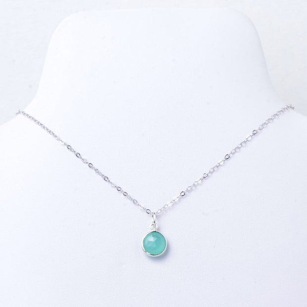 Blue Chalcedony & Sterling Silver Necklace