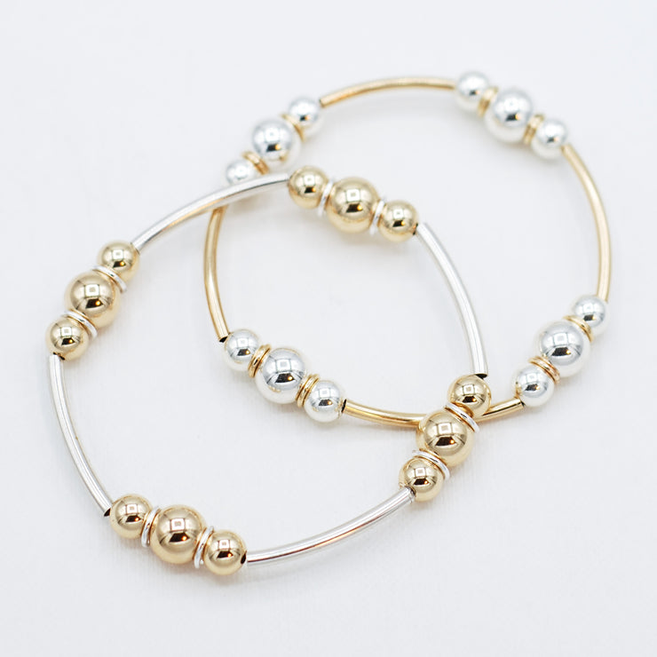 6mm & 8mm Beaded Lux Tube Bracelet