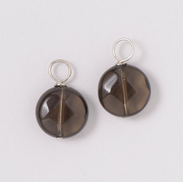 Smoky Quartz Hoop Drops