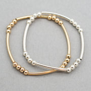 4mm Beaded Lux Tube Bracelet