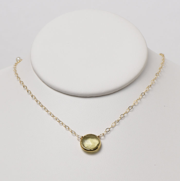 Citrine & Goldfill Necklace