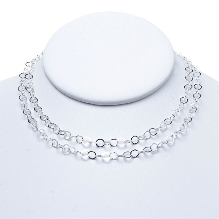 5mm Sterling Silver Long Chain